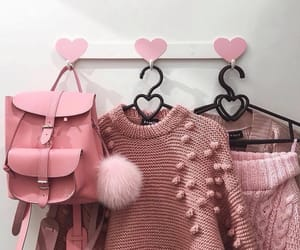 bag, cardigans, and clothes image