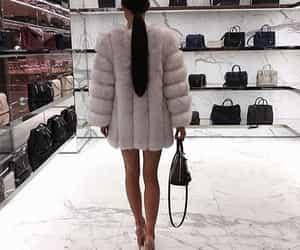 fashion, fur coat, and luxury image