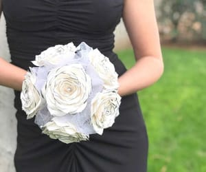 wedding bouquet, bridal bouquet, and silver image