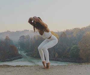 girl, nature, and yogi image