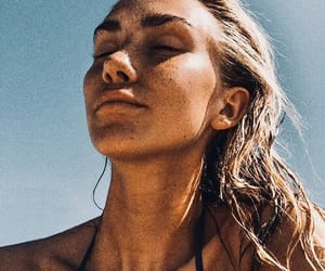beach, damn, and girl image