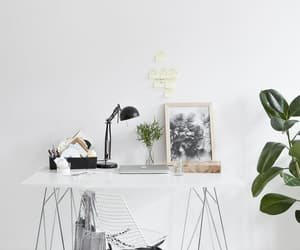 desk, white, and home image
