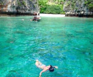 beach, paradise, and Phi Phi image