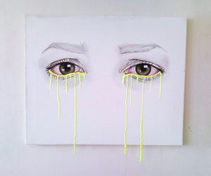 art, brown, and eyes image