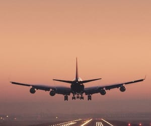 plane, airplane, and fly image