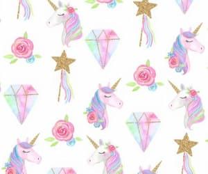 unicorn, diamond, and stars image