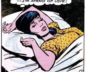 love, comic, and afraid image