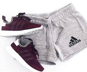 adidas, grey, and gym image