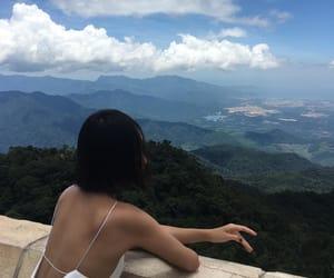 girl, sky, and view image