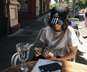 brunette, lunch date, and date image