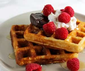 berry, food, and waffle image