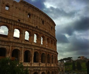 clouds, colloseum, and italy image