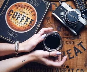 coffee, canon, and photography image