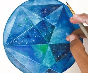 art, blue, and circle image