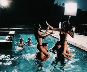 girl power, pool party, and girl tumblr image
