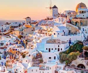 destination, Greece, and santorini image