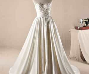 satin wedding dress image