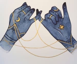 moon, hands, and magic image