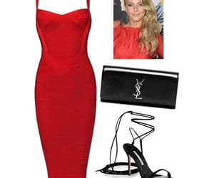 fashion, heels, and red dress image