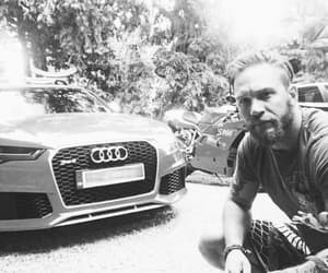 actor, black and white, and audi image