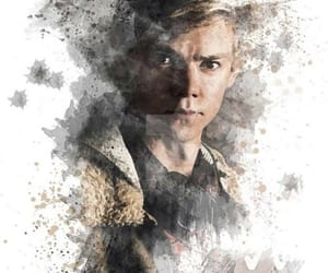 newt, thomas sangster, and maze runner image