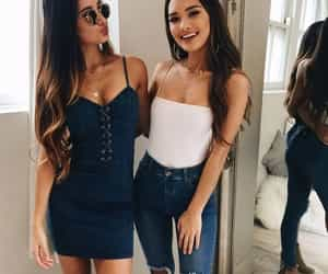 fashion, girl, and couple image