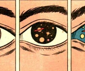 eyes, space, and eye image