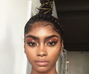 girl, black, and melanin image