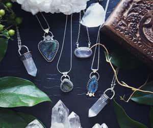 crystal necklace, crystals, and fashion image