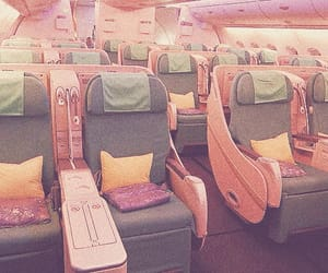pink, airplane, and aesthetic image