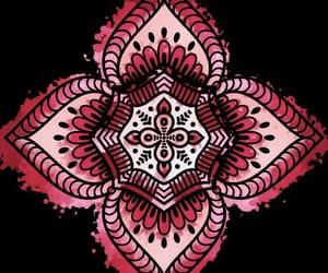 draw, mandala, and pink image