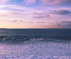 beach, clouds, and ice image