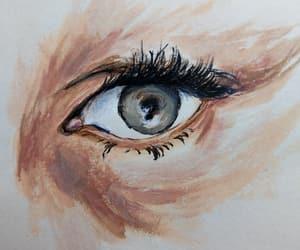 acrylic, eye, and intense image