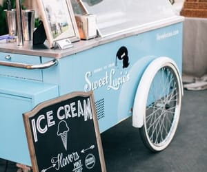 blue, cart, and ice cream image