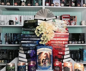 books, decoration, and fandom image