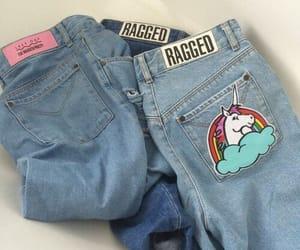 jeans, unicorn, and grunge image