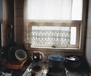 vintage, kitchen, and window image