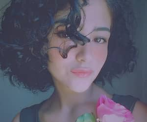 curly, girl, and rose image