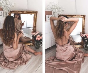 girl, mirrors, and cute image