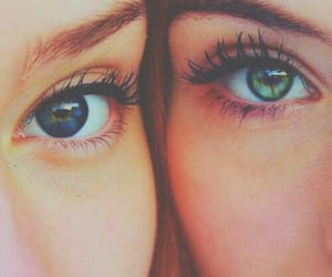 best friends, makeup, and pastel image