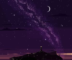 stars, night, and pixel image