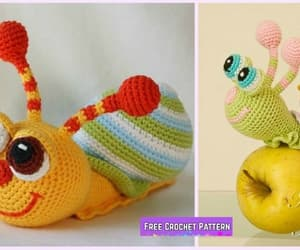 crochet and snail image