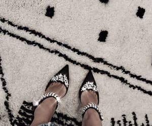 black, diamonds, and shoes image