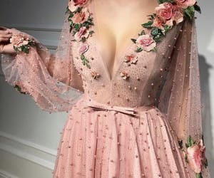 dress, pink, and flower image