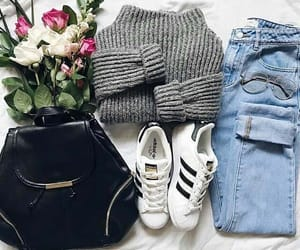 fashion, glasses, and outfit image