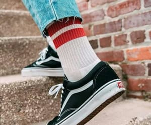 vans, socks, and shoes image
