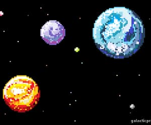 planets, pixel, and space image