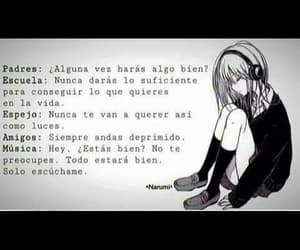 anime, blanco y negro, and frases image