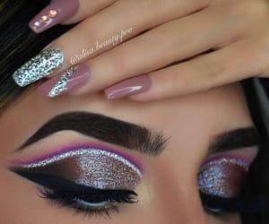 eye makeup, eyebrows, and eyeshadow image