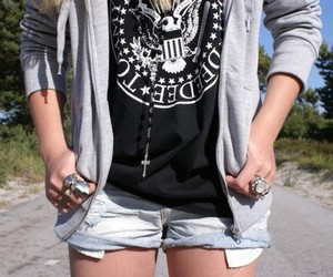 fashion, girl, and ramones image